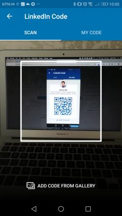 Scan a LinkedIn QR code