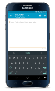 Android app OBI4wan posten