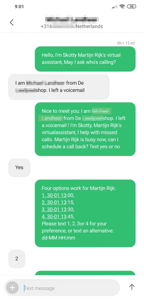 HelloSkotty sms