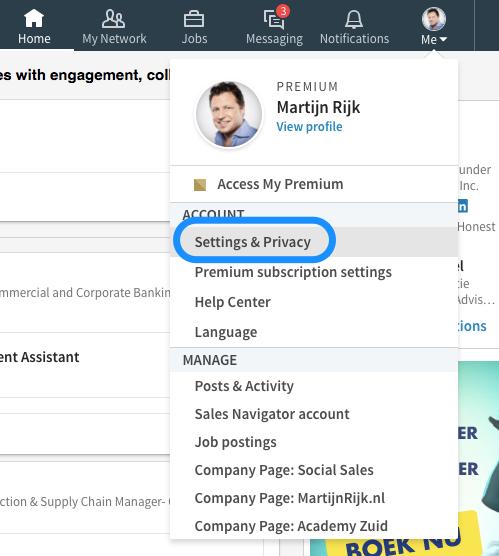 LinkedIn instellingen