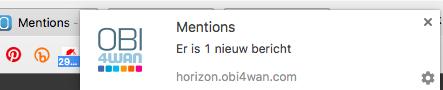 Notificaties in webcare van OBI4wan